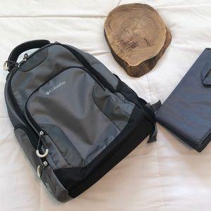 Columbia Summit Rush Backpack Diaper Bag Grey NWOT
